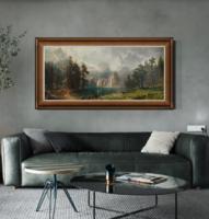 橙舍 欧式大气风景山水油画客厅装饰画沙发背景墙挂画