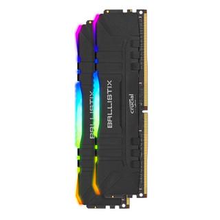 crucial 英睿达 铂胜系列 DDR4 3600MHz RGB 黑色 台式机内存 16GB 8GB*2 BL2K8G36C16U4BL