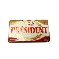 PRÉSIDENT 总统 发酵型动物淡味黄油块 200g