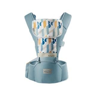 babycare 婴儿背带腰凳宝宝抱娃神器减震坐垫硅胶防滑四季通用宝宝背带 静谧蓝 均码