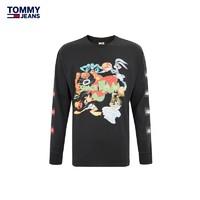 TOMMY HILFIGER 汤米·希尔费格 12199 男女同款 空中大灌篮印花长袖T恤