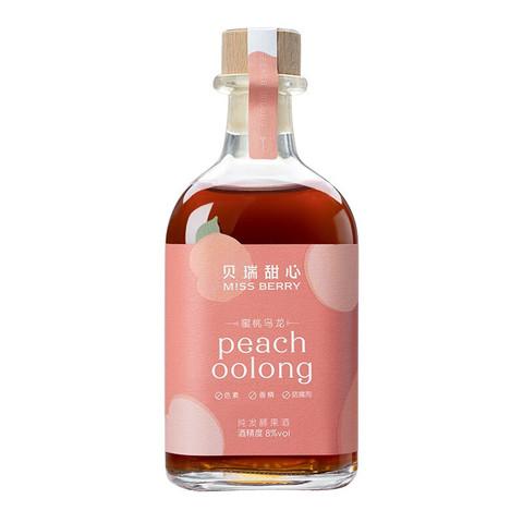 MISS BERRY 贝瑞甜心 MissBerry)纯发酵 微醺 蜜桃乌龙 果酒 甜酒 300ml