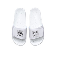 李宁拖鞋男鞋透气魔术贴男士运动鞋AGAQ027-1标准白 42码