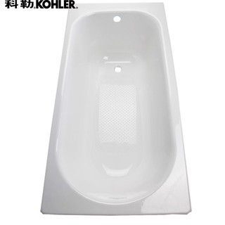 K-941T-0 索尚嵌入式鑄鐵浴缸 無扶手 配原裝PVC排水 1.5m