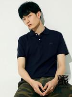 Gap 盖璞 男装|重磅密织系列 徽标LOGO纯棉纯色POLO衫