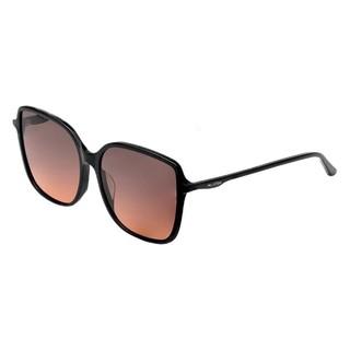 MUJOSH 木九十 男女款太阳镜 MJ101SF575 BKC3 黑色镜框上灰下橙镜片
