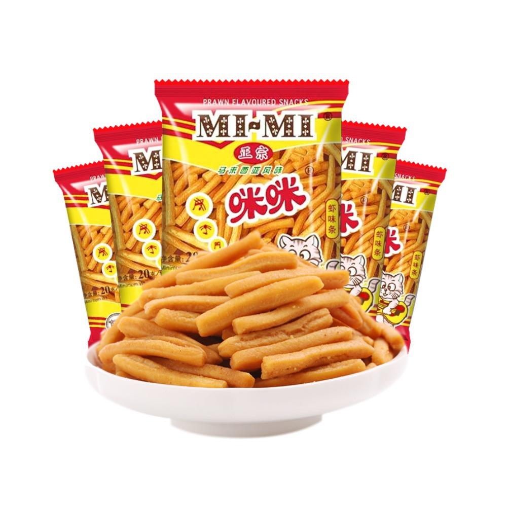 MIMI 咪咪 正宗咪咪虾条20g*12包膨化休闲零食大礼包网红怀旧凑单小吃零食