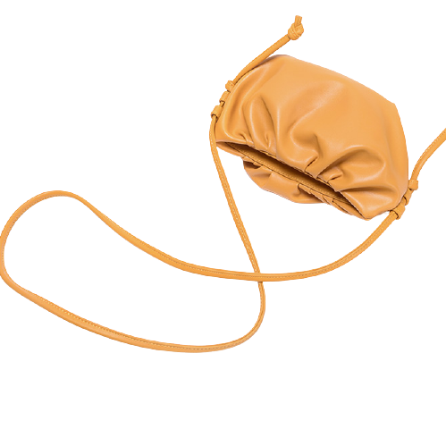 bampo 半坡饰族 云与泡沫系列 女士单肩饺子包 W2020113062 杏色