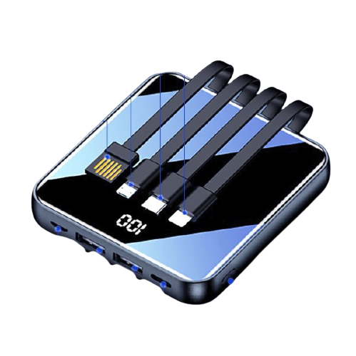 HUIDUODUO 慧多多 移动电源数据线二合一 钢琴黑 20000mAh Type-c micro usb 2.1A双向快充