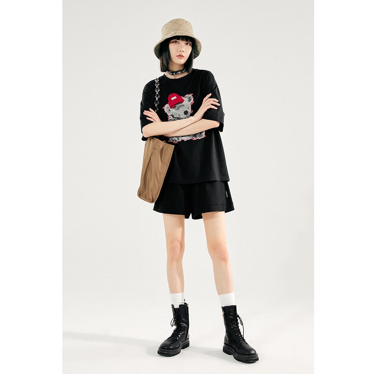 PEACEBIRD 太平鸟 A7DAB219389 女士短袖T恤
