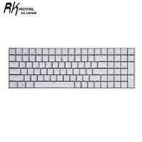 ROYAL KLUDGE RK100 多模无线机械键盘 100键  白色 国产红轴 单光