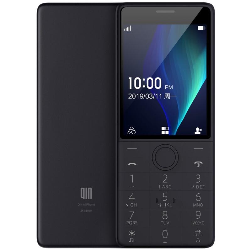 QIN 多亲 Qin 1s +AI学生电话VoLTE老人按键手机双卡双待 移动联通4G 功能直板手机 铁灰色