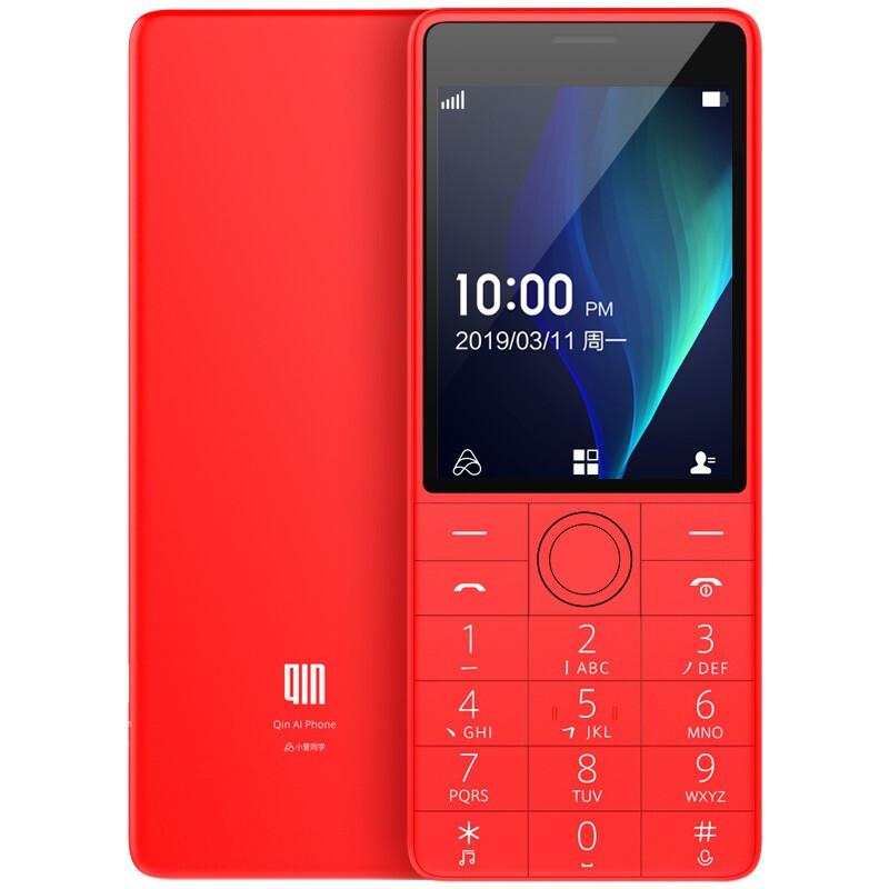 QIN 多亲 Qin 1s +AI学生电话VoLTE老人按键手机双卡双待 移动联通4G 功能直板手机 中国红