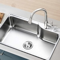 MOEN 摩恩 28001sl 不锈钢水槽套餐(单槽配简约龙头) 685mm
