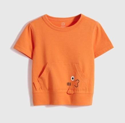 Gap 盖璞 儿童动物短袖T恤
