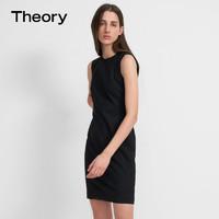 Theory 女装 羊毛混纺圆领无袖连衣裙 J0701615