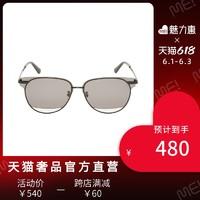 MCQ 春夏多色全框镂空镜片个性男女同款太阳镜墨镜 黑色