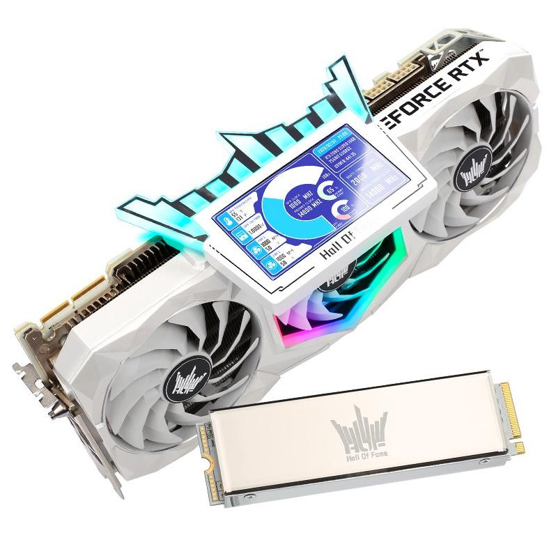 GALAXY 影驰 GeForce RTX 3090 HOF Extreme限量版 显卡 24GB+1TB SSD 固态硬盘