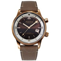 Seastrong AL-525BRC4H4 棕色表盘男士手表