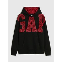 Gap 盖璞 000656135 男款徽标LOGO撞色格纹套头卫衣
