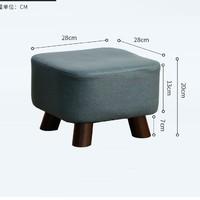 JIAYI 家逸 RF-BD131 墨绿色方形矮凳