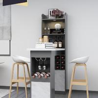 简约现代吧台桌椅家用酒柜多功能储物柜客厅隔断小吧台撞色可定制