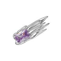 YVMIN 尤目 涟漪系列 20291 液化方形925银耳夹耳钉