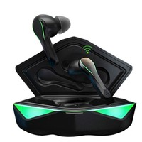 SANSUI 山水 TW11 蓝牙耳机 黑绿色