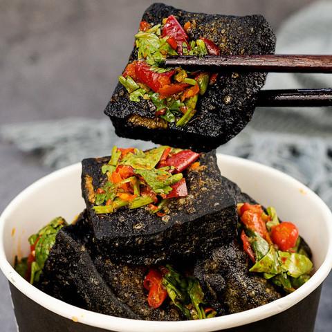 正宗长沙臭豆腐生胚黑色油炸原胚臭豆腐干经典小吃