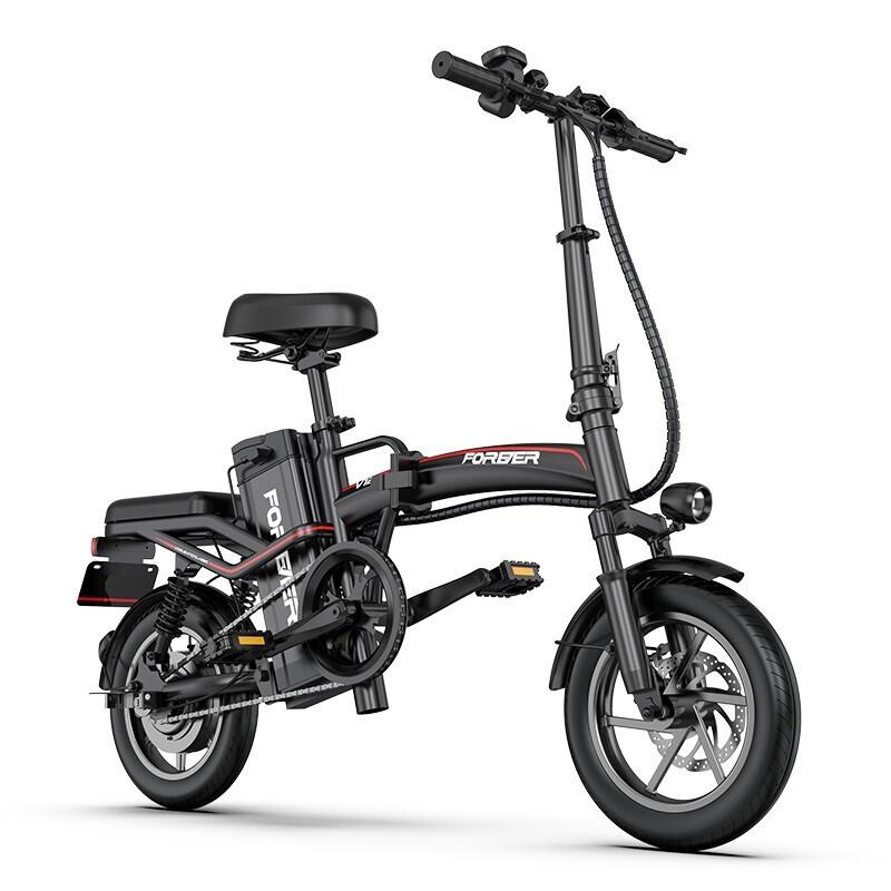 FOREVER 永久 电动自行车 48v6a锂电池 黑色 旗舰版
