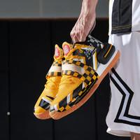 匹克态极闪现2代警告配色篮球鞋2021新款魔术贴学生低帮运动鞋 45 橙黄/黑色
