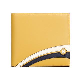 BALLY 巴利 奢侈品 男士 黄/黑白拼色皮质短款钱包 BRASAI SS 32 6226590