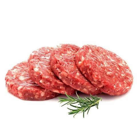 玺宴 国产安格斯调味牛肉饼 100g*4片