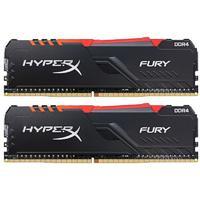 Kingston 金士顿 Fury系列 DDR4 3600MHz RGB 黑色 台式机内存 16GB 8GB*2 HX436C17FB3AK2/16