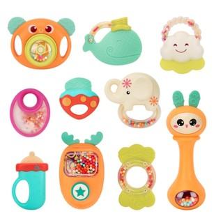 NUKIED 纽奇 婴儿手摇铃玩具牙胶 礼盒装