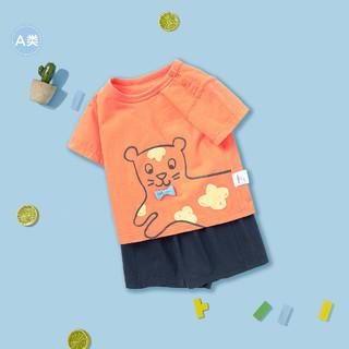 balabala 巴拉巴拉 婴儿短袖短裤套装
