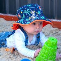 Banz 班兹 【直营】澳洲BANZ儿童太阳帽男女宝春夏双面防晒渔夫帽绑带沙滩帽