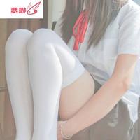 二次元日系高筒过膝袜半筒袜软妹外穿JK学院领域白丝袜cos大腿袜 费琳