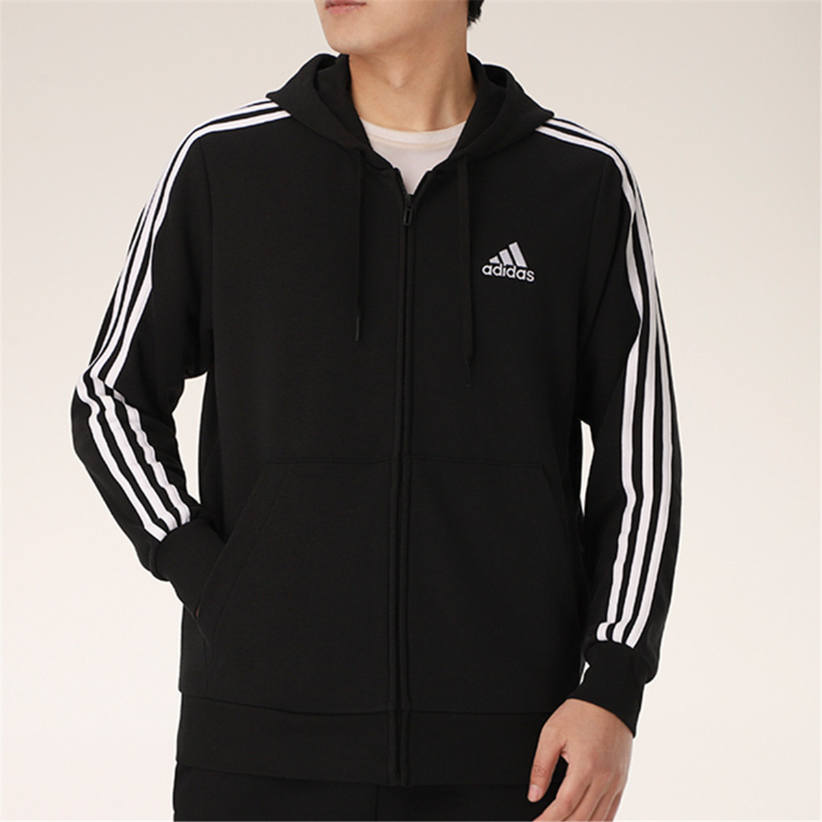 adidas 阿迪达斯 男式外套男款针织休闲运动夹克外套运动服男装