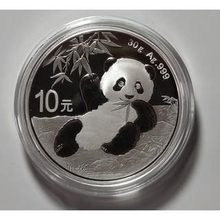 【2020年30克熊猫银币】送礼盒 全新 面值10元 直径40毫米
