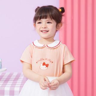 Hello Kitty 凯蒂猫 HELLOKITTY婴幼宝宝T恤女童甜美t恤上衣