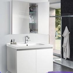 MOEN 摩恩 BC1405 罗亚美式浴室柜组合 75cm柜体+铝合金镜柜+抽拉龙头