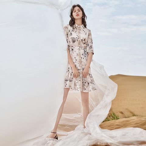DUIBAI 对白 敦煌系列 ADQ117X 女士连衣裙