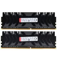 HYPERX Predator掠食者系列 DDR4 3600MHz 黑色 台式机内存 16GB 8GB*2 HX436C17PB3K2/16