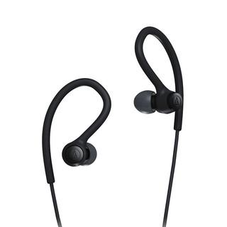 audio-technica 铁三角 SPORT10iS 入耳式挂耳式有线耳机 黑色 3.5mm