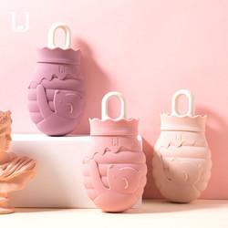 佐敦朱迪新款熊暖水袋注水防爆热水袋女可爱暖宝宝暖手宝暖宫硅胶
