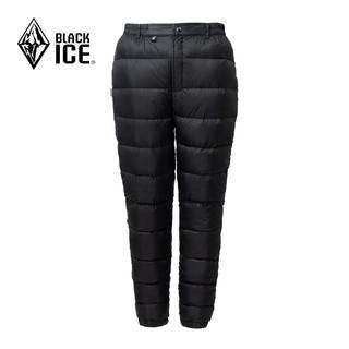 BLACK ICE 黑冰 新款F8155冬季男/女款外穿防寒羽绒裤户外加厚保暖鹅绒裤 黑色 XS