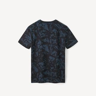 HLA 海澜之家 HNTBJ2R525ATD 男士花纹圆领短袖T恤