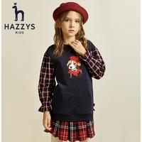 HAZZYS 哈吉斯 女童裙式上衣