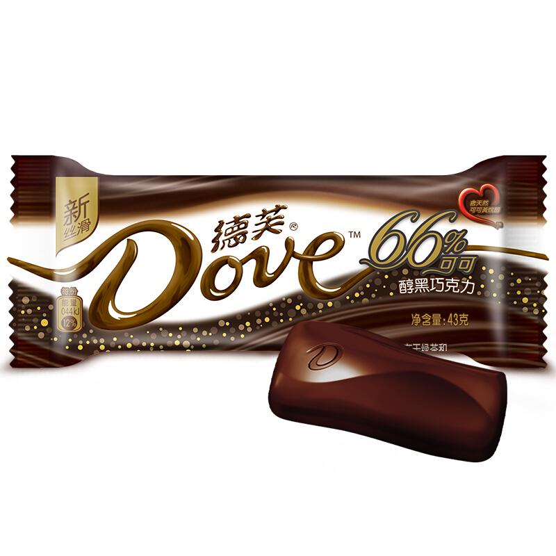 Dove 德芙 66%醇黑巧克力 43g